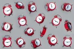 Falling clocks. Clocks falling from the air royalty free stock photo