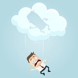 Falling from a cloud Stock Photography