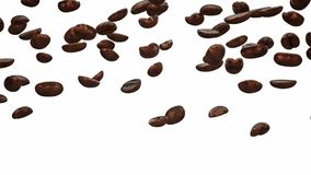 Falling coffee beans stock footage