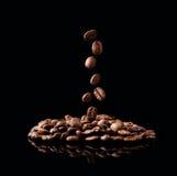 Falling coffee grain Stock Photo