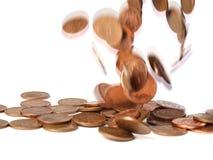 Falling coins 2 Royalty Free Stock Photos
