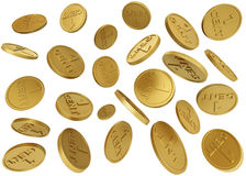 Falling Coins Royalty Free Stock Images