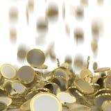 Falling coins Stock Photos