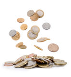Falling coins Stock Photography