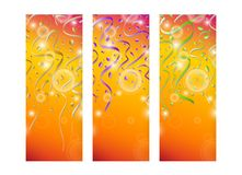Falling color confetti on stripes Royalty Free Stock Photos