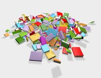 Falling colorful books isolated, library, literature and education concept Stock Photos