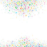 Falling colorful tiny confetti pieces on white background. vector Royalty Free Stock Images