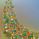 Falling colour cubes abstract template. EPS 8 Royalty Free Stock Images