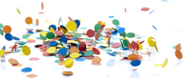 Falling confetti Stock Photos