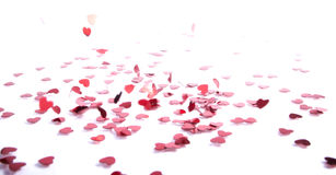 Falling confetti Royalty Free Stock Photography