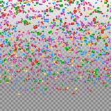 Falling confetti backdrop Stock Photos