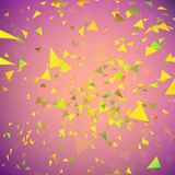 Falling confetti background. Pieces of paper explosion. Party or birthday. Falling confetti background. Pieces color of paper explosion Royalty Free Stock Image