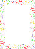 Falling Confetti border Royalty Free Stock Photos