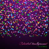 Falling confetti decoration Royalty Free Stock Images