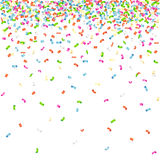 Falling confetti pattern on white background.  stock illustration