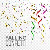 Falling Confetti Set Vector. Event Elements Decoration. Celebrate. Light Effect. Gift, Surprise. Realistic Transparent. Falling Confetti Set Vector. Event vector illustration