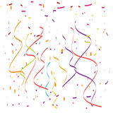 Falling confetti and streamers , illustration Stock Image