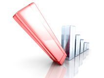 Falling Crisis Business Bar Chart Diagram Stock Image