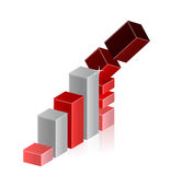 Falling Crisis Business Bar Chart Diagram Royalty Free Stock Image