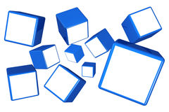 Falling cube photo frame gallery concept Royalty Free Stock Photo