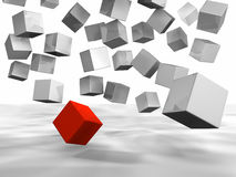 Falling Cubes Royalty Free Stock Images