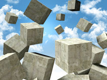 Falling cubes Stock Photography