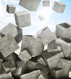 Falling cubes Royalty Free Stock Photos
