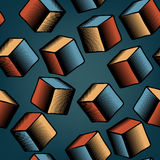 Falling cubes tile. Editable seamless tile of falling cubes Royalty Free Illustration