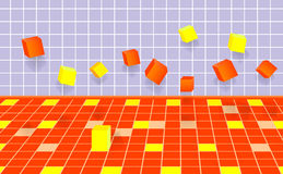 Falling cubes.vector 10eps. Stock Images
