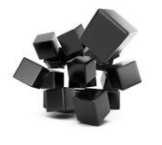 Falling cubes Stock Image