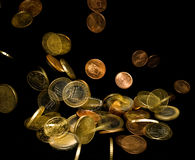 Falling currency of euro royalty free stock images