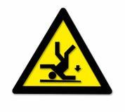 Falling danger sign Stock Photos