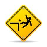Falling danger vector sign Stock Photo