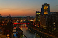 Falling Dawn over Vienna Royalty Free Stock Image