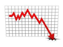 Falling diagram Stock Image