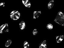 Falling diamonds Royalty Free Stock Photo