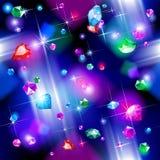 Falling diamonds background Stock Images
