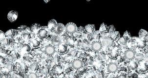 Falling diamonds concept stock video