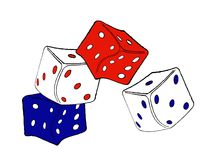 Falling dice Royalty Free Stock Photos