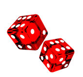 Falling dice for gambling Stock Image