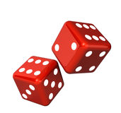 Falling dice for gambling Royalty Free Stock Photo