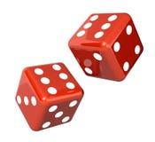 Falling dice for gambling Stock Photos