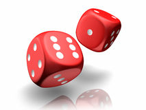 Falling Dices Stock Photography