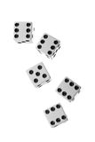 Falling dices Royalty Free Stock Photos