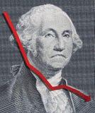 Falling Dollar Stock Photos