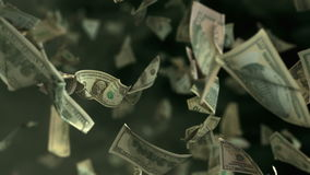 Falling Dollar banknotes in 4K Loopable stock footage