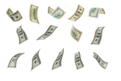 Falling dollar. Royalty Free Stock Photography