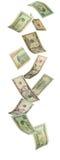 Falling Dollars Royalty Free Stock Image