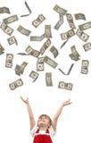 Falling Dollars Stock Images