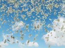 Falling dollars Royalty Free Stock Photo